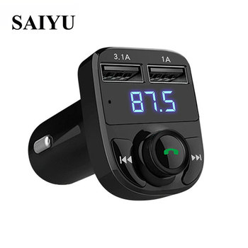 2017 Bluetooth Car Kit MP3 Music Player 12~24V FM Transmitter Wireless Radio Adapter Dual USB Charger DropShipping