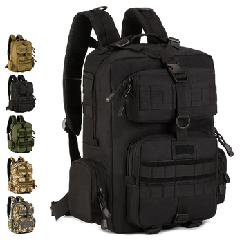 "Outdoor Patrol Backpack 30L Nylon Camo Tactical MOLLE Climber 14"" laptop Camping Hunting"